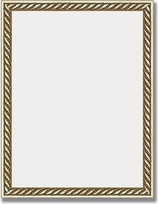 Зеркало 35x45см в багетной раме витая латунь Evoform BY 1338