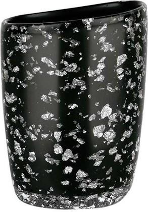 Стакан для зубных щёток Spirella Etna Glitter, чёрный 1016527