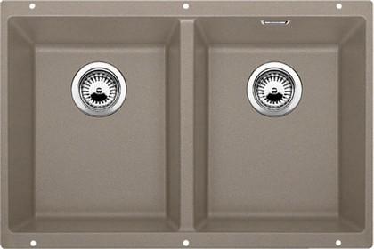 Кухонная мойка без крыла, с клапаном-автоматом, гранит, серый беж Blanco Subline 350/350-U 517432