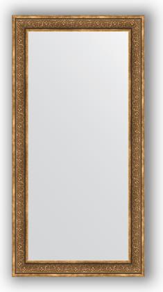 Зеркало в багетной раме 83x163см вензель бронзовый 101мм Evoform BY 3351