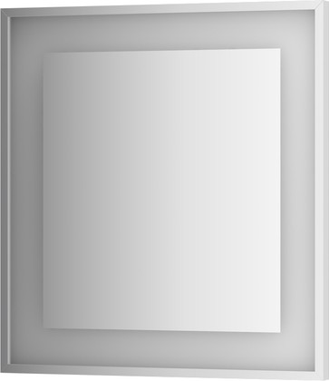 Зеркало 70x75 в багетной раме со встроенным LED-светильником Evoform BY 2202