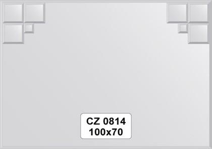 Зеркало для ванной 100x70см с фацетом и декором FBS CZ 0814