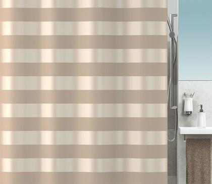Штора для ванны 180x200см текстильная бежевая Spirella SCALA 1016305