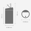 Мусорный бак Brabantia Touch Bin, 45л, розовый 481963