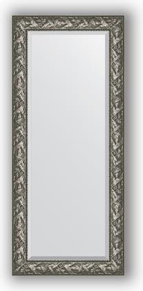 Зеркало с фацетом в багетной раме 69x159см византия серебро 99мм Evoform BY 3572
