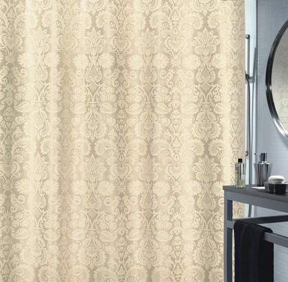 Штора для ванной комнаты 180x200см текстильная, шампань Spirella FORTUNA 1017019
