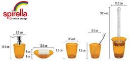 Стакан оранжевый Spirella Toronto 1010505