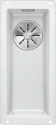 Кухонная мойка Blanco Subline 160-U, без крыла, отводная арматура, гранит, белый 523400