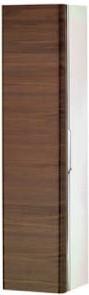 Высокий шкаф-пенал, петли слева, белый глянцевый / грецкий орех Keuco EDITION 300 30311386801