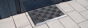 Коврик придверный 45x75см для улицы чёрный, резина Golze Dynamic 327-30-00