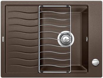 Кухонная мойка оборачиваемая с крылом и решеткой, кофе Blanco Elon 45S 520997