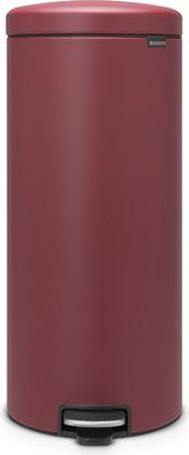 Мусорный бак с педалью 30л, минерально-бордовый Brabantia Newicon 115981
