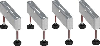 Монтажные опоры из нержавеющей стали для для душевого лотка, 4шт Viega Advantix 619114