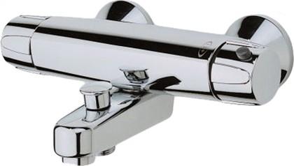 Смеситель для ванны и душа с термостатом, подключение горячей воды слева, хром Oras NOVA 7462X