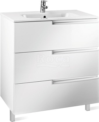 Тумба с раковиной Roca Victoria Nord Ice Edition 60 3 ящика ZRU9302834/32799E000