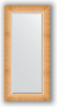 Зеркало 56x116см с фацетом 30мм в багетной раме травлёное золото Evoform BY 1151