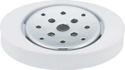 Мыльница керамическая белая Spirella MALIBU 1001764