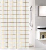 Шторка для ванной Kleine Wolke Grid, 180x200см, полиэстер, золото 5914919305