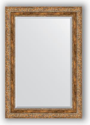 Зеркало с фацетом в багетной раме 65x95см виньетка античная бронза 85мм Evoform BY 3436