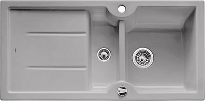 Кухонная мойка оборачиваемая с крылом, с клапаном-автоматом, керамика, серый алюминий Blanco Idessa 6 S 516005