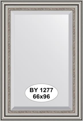 Зеркало 66x96см с фацетом 30мм в багетной раме римское серебро Evoform BY 1277