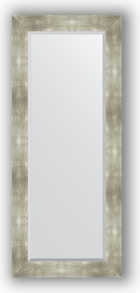 Зеркало 61x146см с фацетом 30мм в багетной раме алюминий Evoform BY 1170