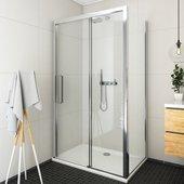 Душевой уголок Roltechnik Exclusive ECD2L, 120x80см, дверь слева, прозрачное стекло, хром 564-120000L-00-02/563-8000000-00-02