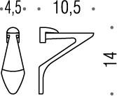 Запасные металлические крепления для полок с толщиной 4-10мм, хром Colombo KHALA B18PZ.000