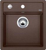 Кухонная мойка Blanco Dalago 5, без крыла, с клапаном-автоматом, гранит, кофе 518529