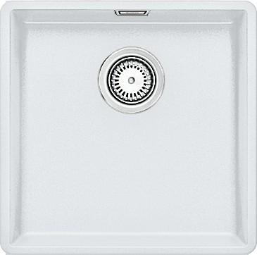 Кухонная мойка без крыла, с клапаном-автоматом, гранит, белый Blanco Subline 400-F 519799