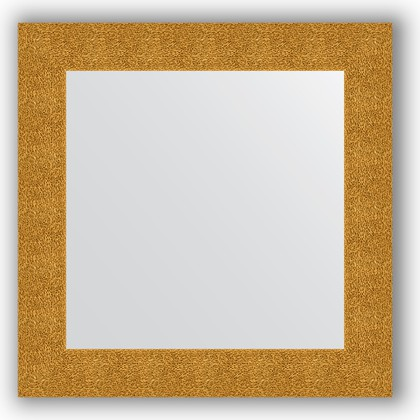 Зеркало в багетной раме 70x70см чеканка золотая 90мм Evoform BY 3150