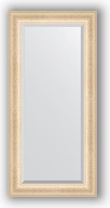 Зеркало 55x115см с фацетом 30мм в багетной раме старый гипс Evoform BY 1242