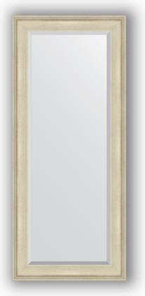 Зеркало 68x158см с фацетом 30мм в багетной раме травлёное серебро Evoform BY 1286