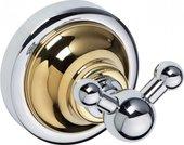 Крючок для ванной Bemeta Retro, двойной, золото-хром 144206038