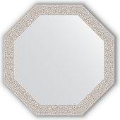 Зеркало Evoform Octagon 482x482 в багетной раме 46мм, мозаика хром BY 3679