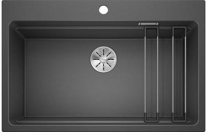 Кухонная мойка Blanco Etagon 8, отводная арматура, антрацит 525187