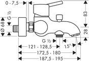 Смеситель для ванны Hansgrohe Talis S 32420000