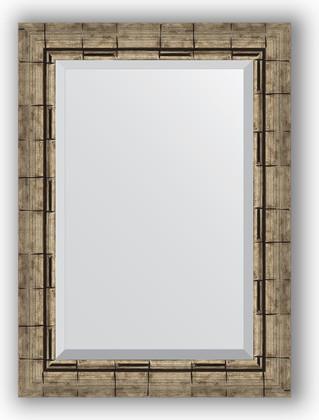 Зеркало 53x73см с фацетом 30мм в багетной раме старый бамбук Evoform BY 1126
