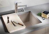 Кухонная мойка без крыла, с клапаном-автоматом, гранит, антрацит Blanco SUBLINE 500-U 513413
