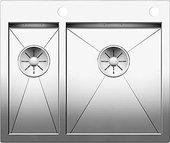 Кухонная мойка Blanco Zerox 340/180-IF/A, клапан-автомат, полированная сталь 521642
