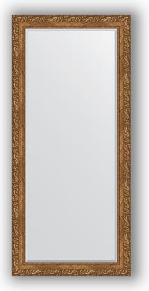 Зеркало 75x165см с фацетом 30мм в багетной раме виньетка бронзовая Evoform BY 1310