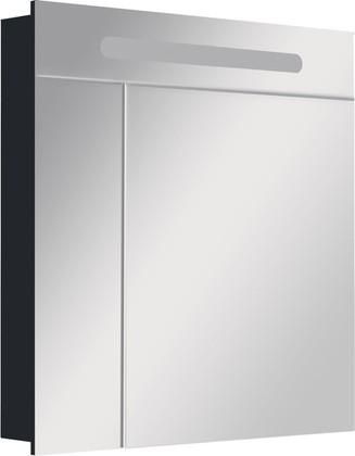 Зеркальный шкаф с флюоресцентной подсветкой 80х81см Roca VICTORIA NORD Black Edition ZRU9000100