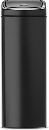 Ведро для мусора прямоугольное 25л чёрное матовое Brabantia Touch Bin 415906