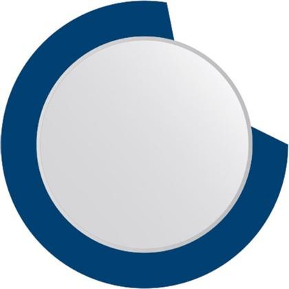 Зеркало для ванной на цветном основании диаметр 80см FBS CZ 0602