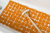 Коврик в ванну Spirella Rings, 53x53см, антискользящий, оранжевый 4007138