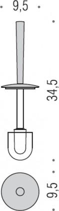Запасной туалетный ёршик Colombo LUNA B0158.000