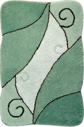 Коврик для ванной 60x90см зелёный Grund Como 433.14.166
