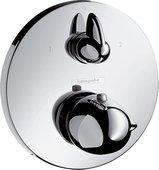 Наружная часть термостата с запорным и переключающим вентилем, с круглой рукояткой, хром Hansgrohe Ecostat E 15720000