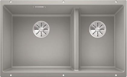 Кухонная мойка Blanco Subline 430/270-U, отводная арматура, жемчужный 523154