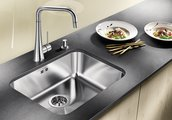Кухонная мойка без крыла, нержавеющая сталь полированная Blanco SUPRA 500-U 518205